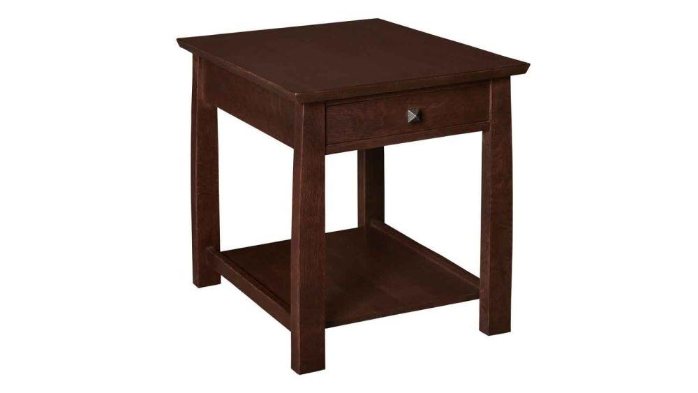 Stickley 1 Drawer Rectangle End Table, , hi-res
