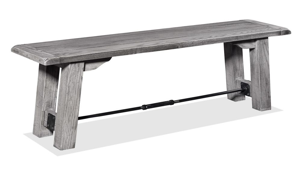 Harlingen Grey Oak Settlers Bench, , hi-res