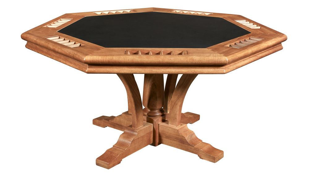 Directors Poker Table with Leather Top, , hi-res