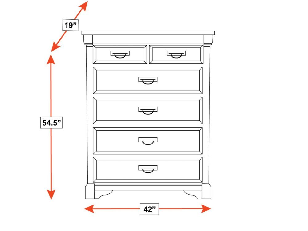 Larchmont Tall Chest, , hi-res