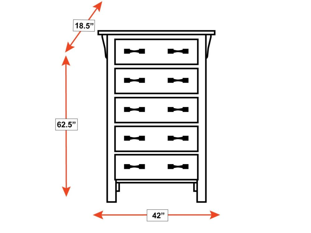 Canyon Lake 5-Drawer Chest, , hi-res