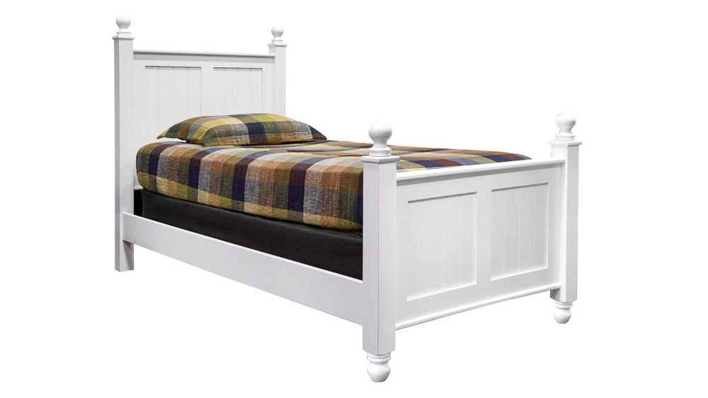 Hedwigs Hill Solid Maple White Twin Bed, , hi-res