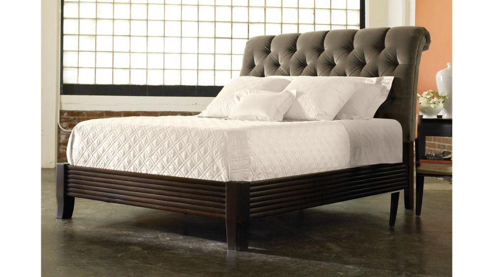 Stickley Leopold's Tufted Bed, , hi-res