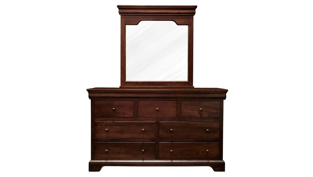 Honey Grove Solid Maple Brown Dresser & Mirror, , hi-res