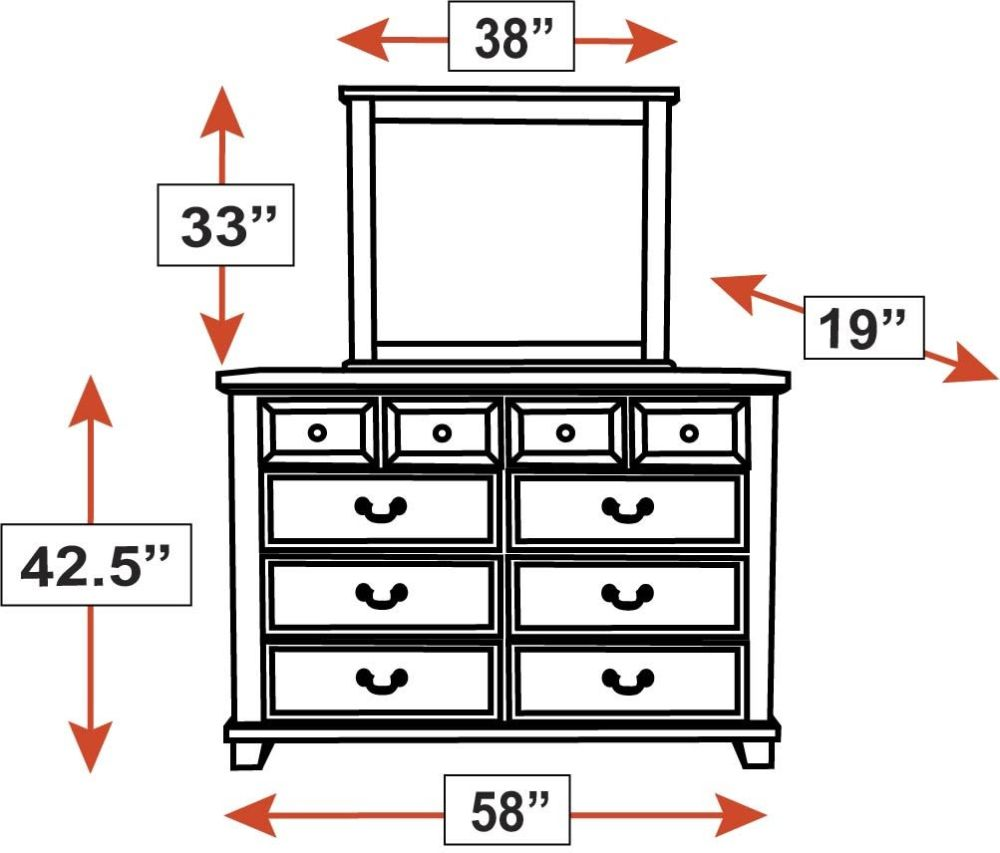 Ballinger Dresser and Mirror, , hi-res