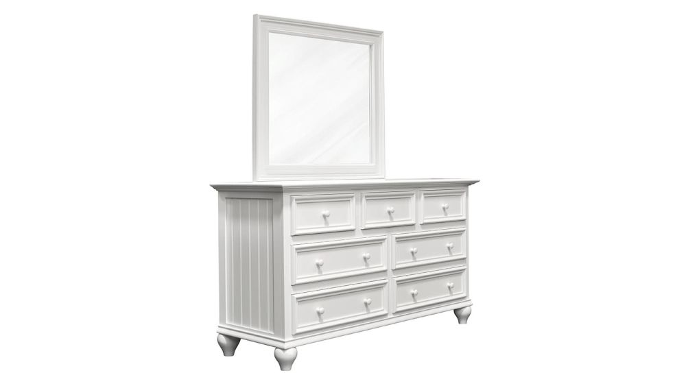Hedwigs Hill Solid Maple White Dresser & Mirror, , hi-res