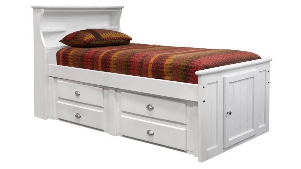 Turkey Creek White Twin Bed, , hi-res