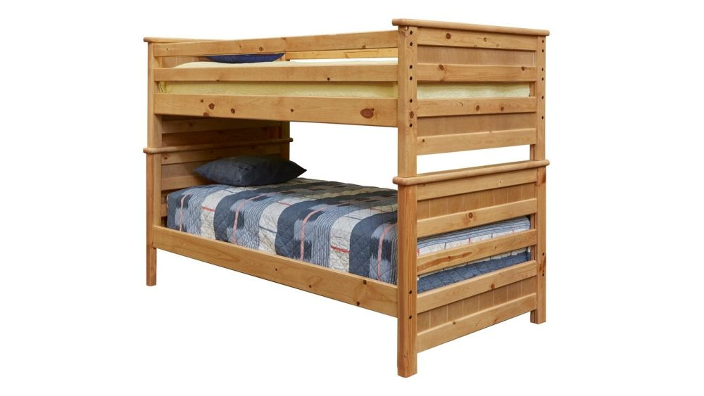 Summit Caramel Twin Over Twin Storage Bed