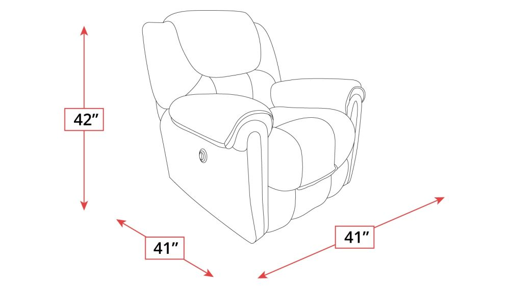 Del Mar Power Recliner Frame Drawing