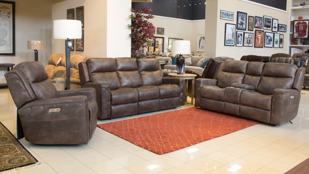 Gunner Rustic Brown 3pc Power Reclining Set, , hi-res