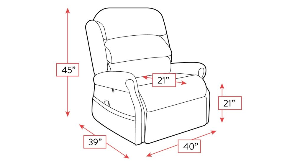 Stellar Comfort Brown Recliner Frame Drawing
