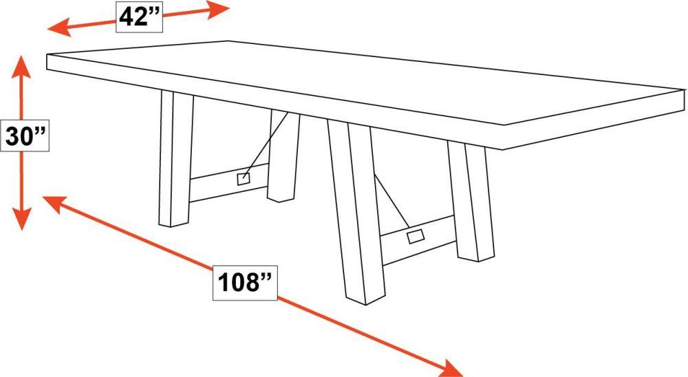 Harlingen Oak Dining Table, , hi-res