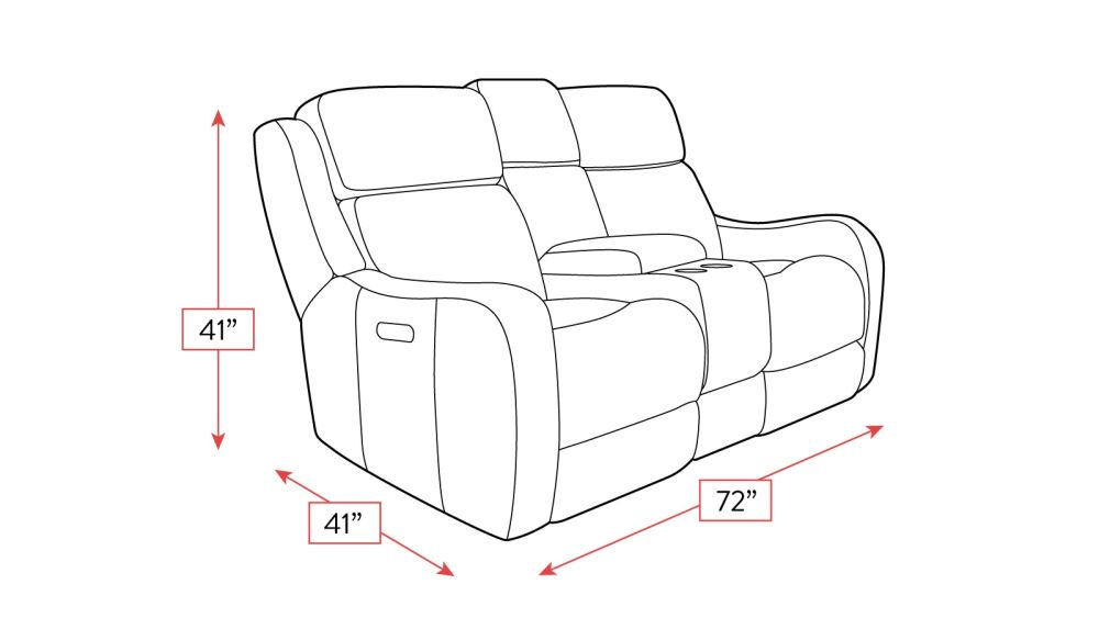 Springfield Power Loveseat Frame Drawing