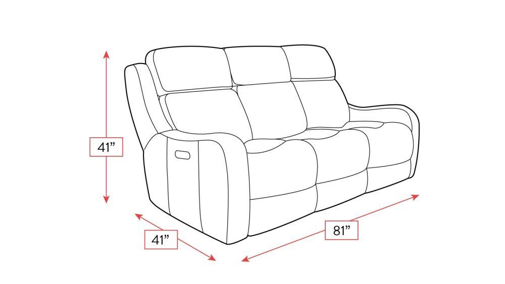 Springfield Power Reclining Sofa Frame Drawing