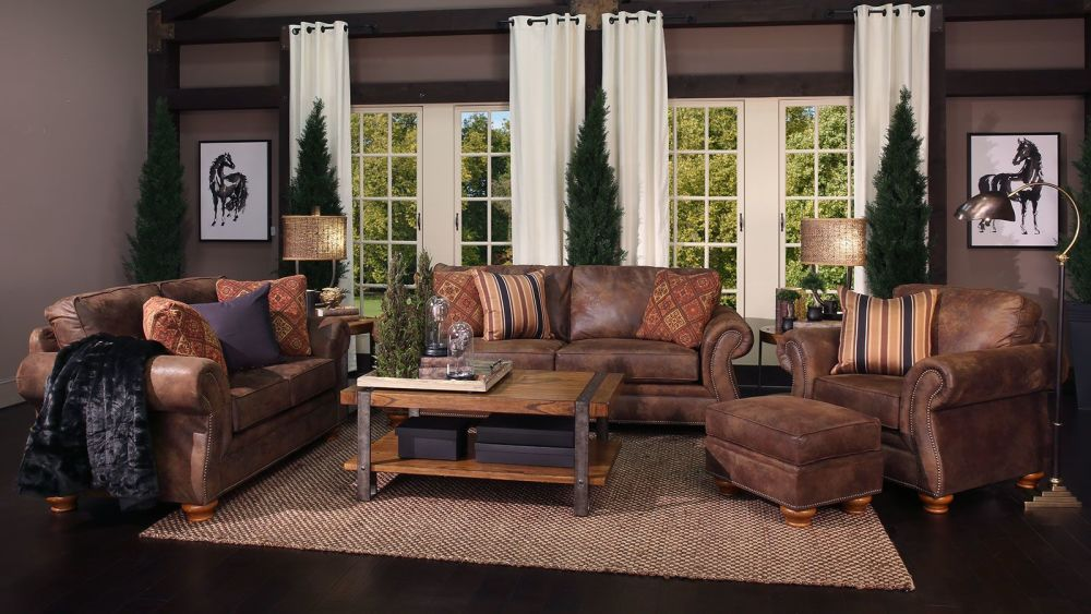 Texas Brown Living Room Group, , small