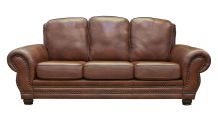 Carnegie Summer Oak Leather Sofa, , small