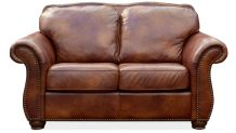Navasota Leather Loveseat, , small
