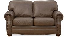 Round Rock Leather Loveseat, , small