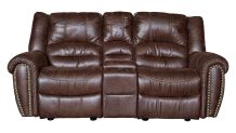 Sanderson Microfiber Power Reclining Loveseat, , small