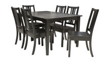 Onyx Oak Dining Table with 6 Side Chairs, , hi-res