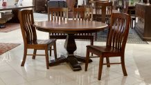 Weston Two-Tone Round Table with San Benito Chairs, , small