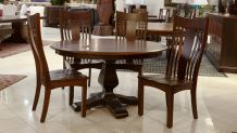 Weston Two-Tone Round Table with Chandler Side Chairs, , small