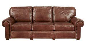 Stickley Stetson Santa Fe Leather Sofa, , hi-res