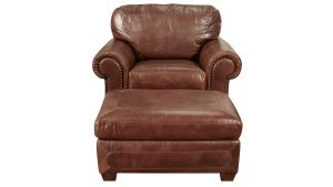 Stickley Stetson Santa Fe Chair and Ottoman, , hi-res