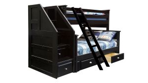 Turkey Creek Black Full over Full Bunk Bed, , hi-res