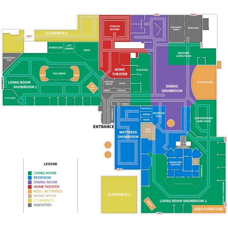Below Is A Map Of The First Gallery Furniture Store. As You Can See,  Thereu0027s A Lot To See. Come On Out TODAY And Experience Gallery Furniture.