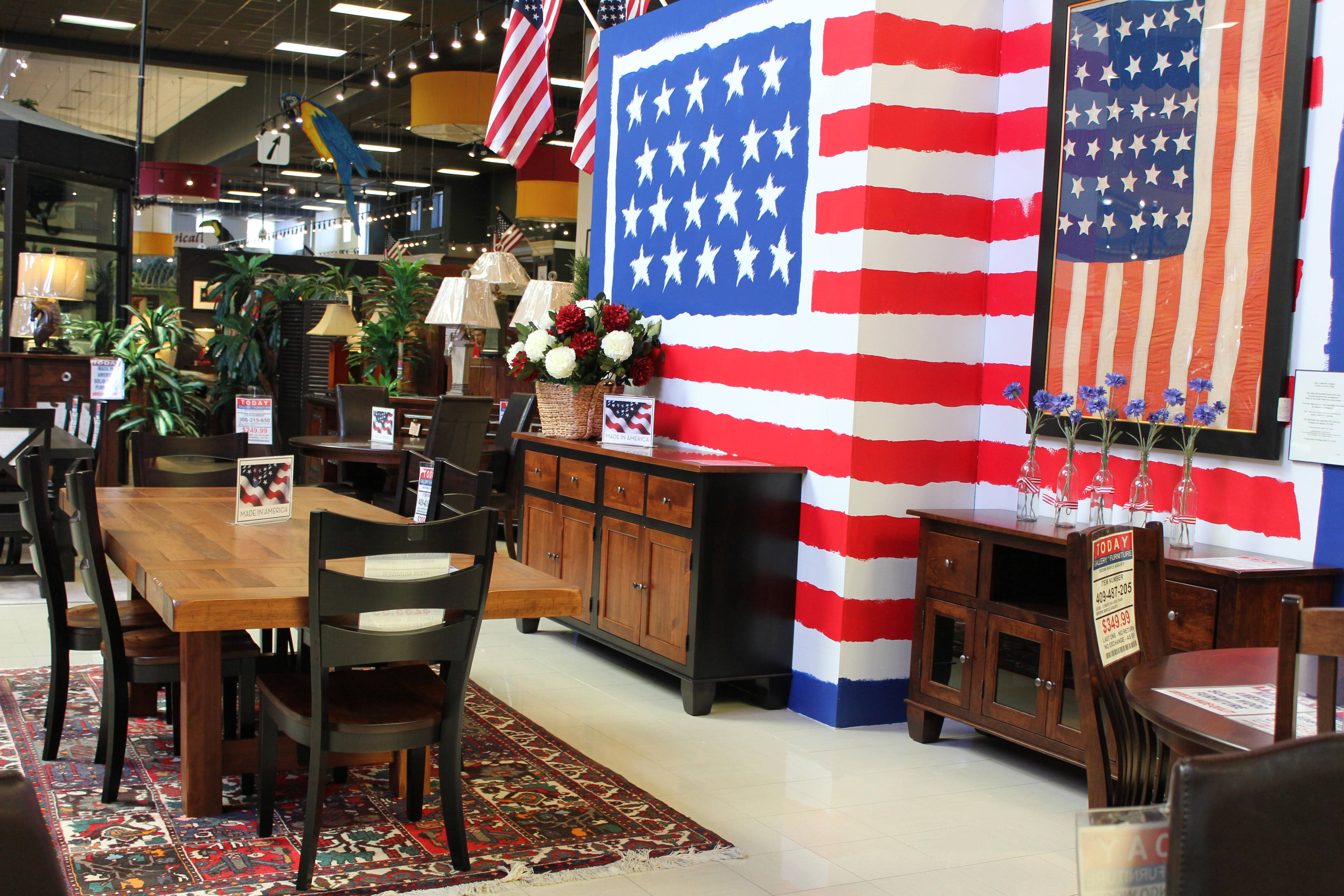 At Gallery Furniture We Believe In Supporting American