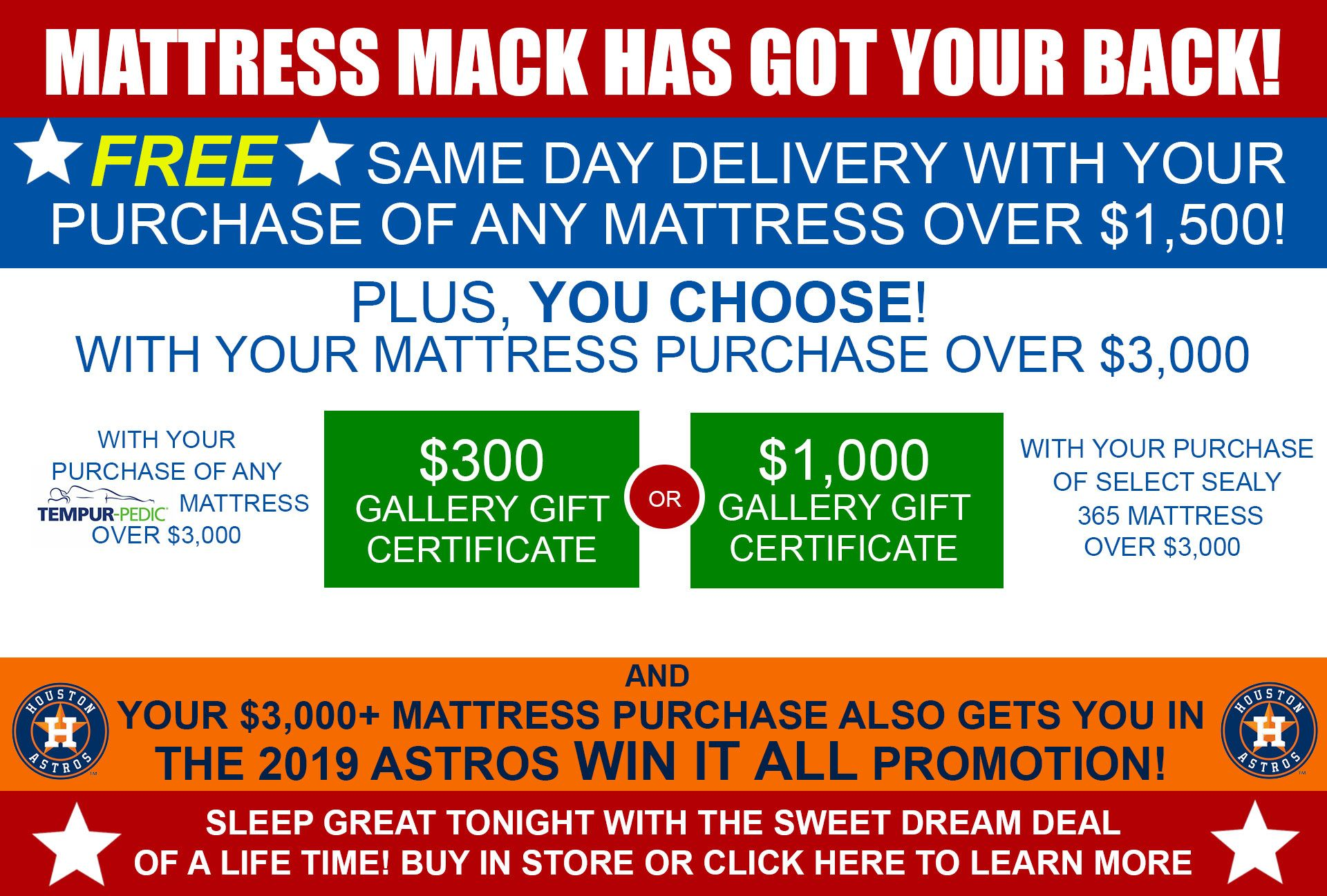 Mega Mattress Promo