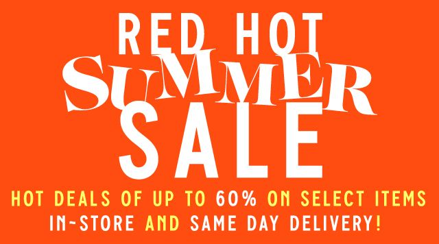 Red Hot Summer Sale Banner