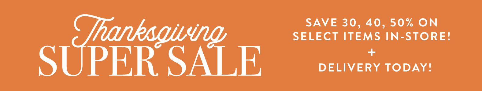 Thanksgiving Super Sale Banner