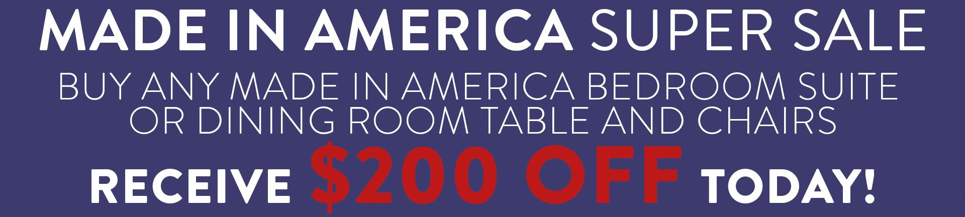 Made In America Amazing Sale Page Banner
