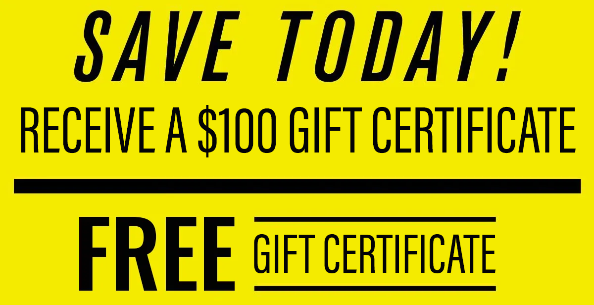 $100 off coupon banner