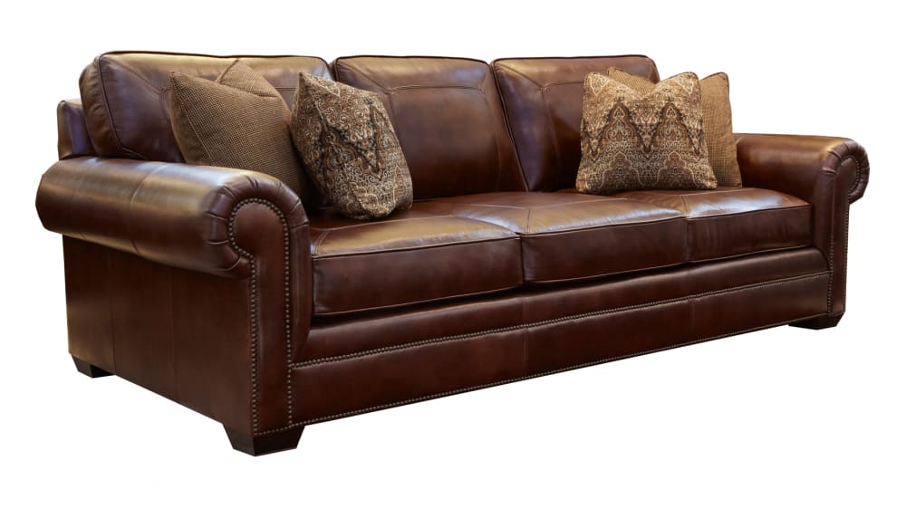 Liberty Leather Chocolate Sofa, , hi-res