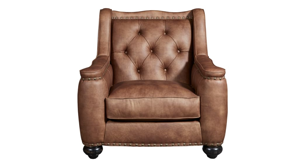 Chelsea Rustic Charm Leather Chair, , hi-res