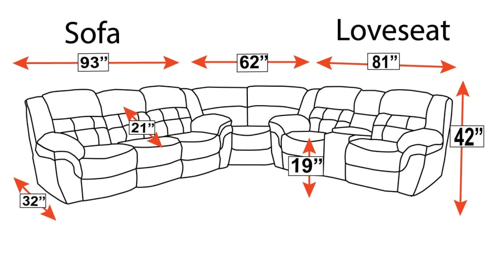 Cozy Corner Power Reclining Sectional, , hi-res