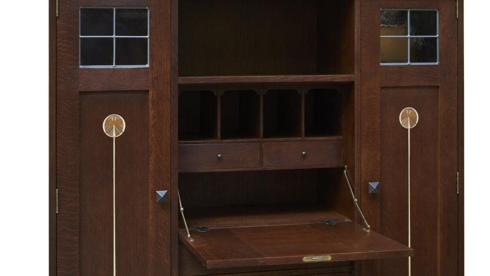 Stickley Harvey Ellis Fall Front Bookcase, , hi-res