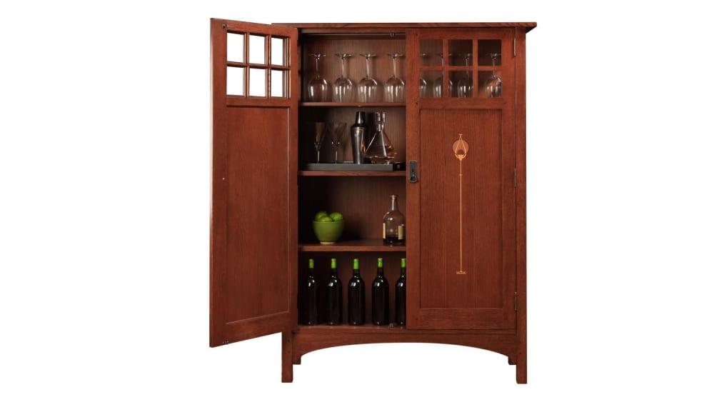 Stickley 2017 Collectors Edition Cabinet With Harvey Ellis Inlay, , hi-res
