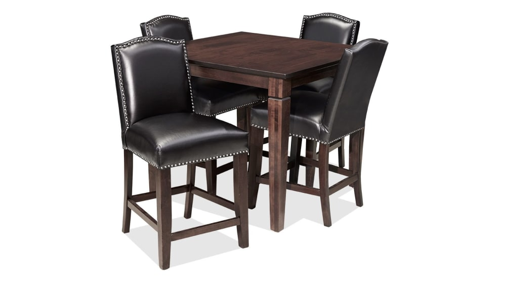 Savanna Tobacco Maple Four-Chair Counter Dining Set, , small