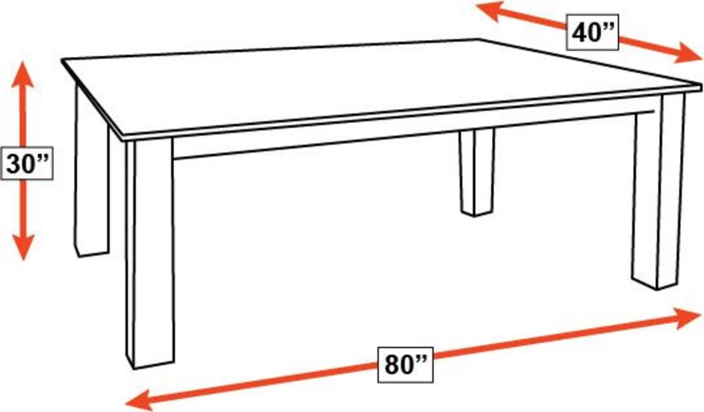 "Crawford 80"" Dining Table, , hi-res"
