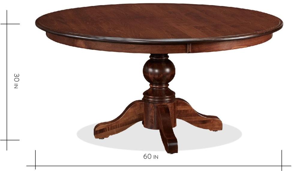 "Baytown Asbury Maple 60"" Round Dining Table, , hi-res"