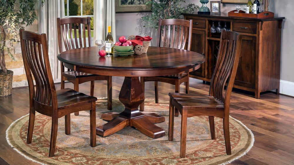Weston Dining Table with Crawford Side Chairs, , large
