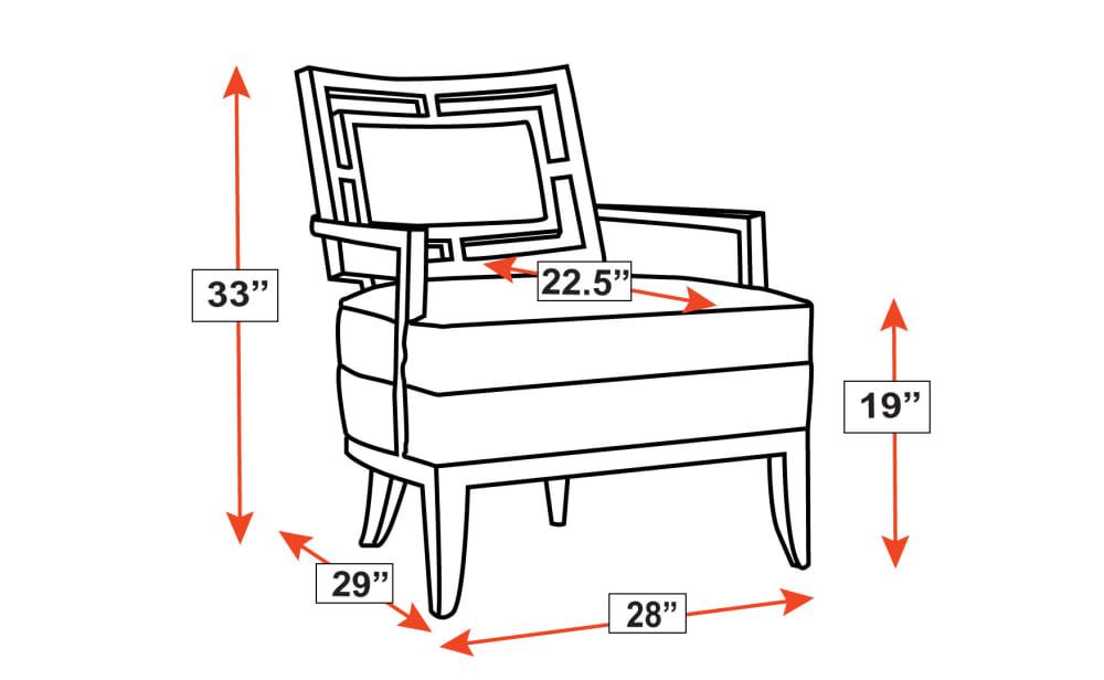 Quadrant Espresso Chair Frame Drawing