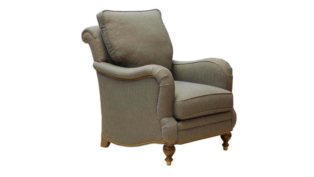 Navy English Arm Chair, , hi-res