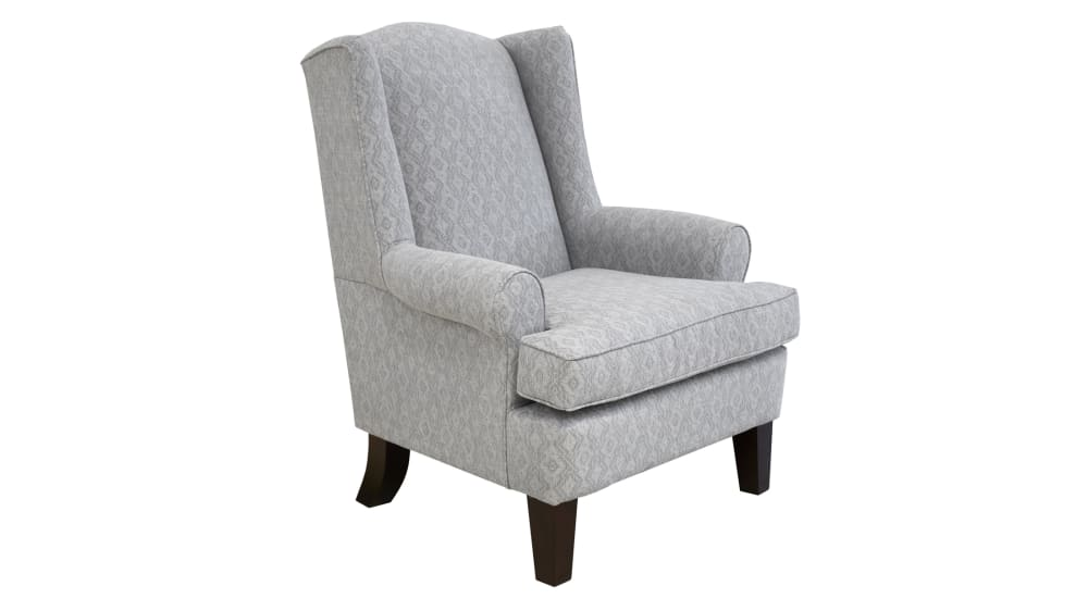Amelia Cement Wing Chair