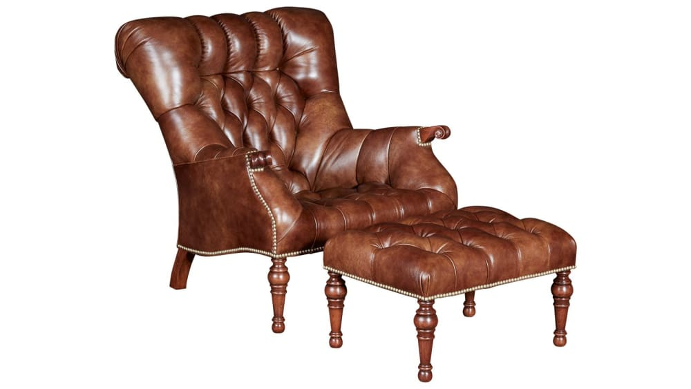Stickley Leopold's Chair and Ottoman, , hi-res