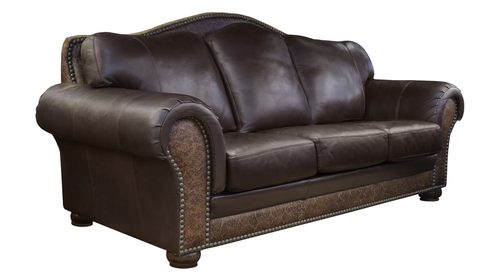Chaparral Dark Roast Leather Sofa, , hi-res